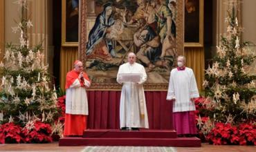 Папа римский Франциск в рождественском послании призвал делиться вакцинами от COVID-19