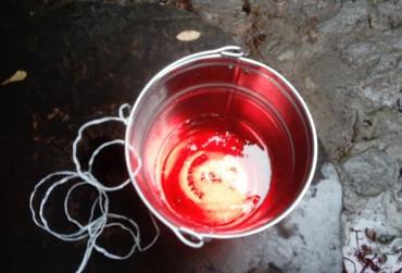"""В областном центре Закарпатья неизвестное вещество окрасило воду в """"кровавый"""" цвет"""