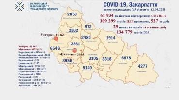 В Закарпатье за сутки не умер ни один пациент с COVID-19: Статистика на 12 июня в Ужгороде