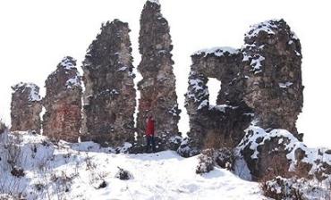 Руины Хустского замка