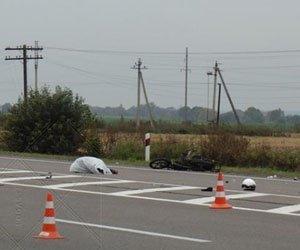 Трагічна смерть. Мотоцикліст загинув на трасі Київ-Чоп