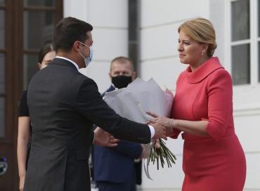 Зеленский начал официальный визит в Словакию