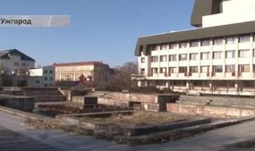 На месте фонтана перед драмтеатром в Ужгороде планируется застройка