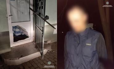 В Закарпатье вора-неудачника поймали сразу на месте преступления