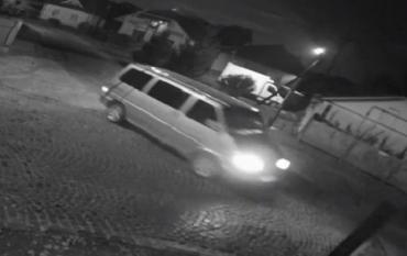 Ночью камеры в Мукачево зафиксировали кражу