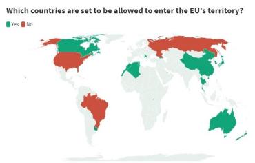 Евросоюз определился для каких стран откроют границы с 1 июля