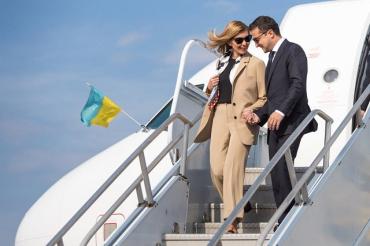Владимир Зеленский в сопровождении первой леди прибыл в США
