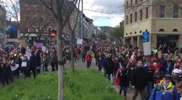 Самая массовая акция прошла в немецком Штутгарте