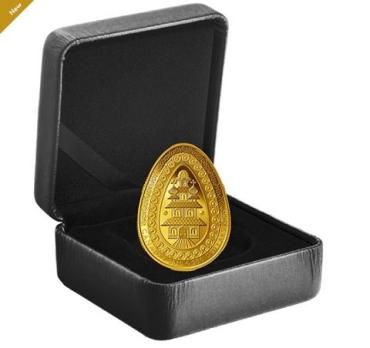 Канада впервые выпустила золотую монету в форме украинской писанки