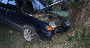 На Славянской набережной в Ужгороде произошла авария: Дерево не пострадало
