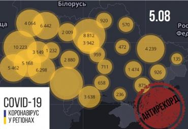Офіційно. Кількість нових інфікованих коронавірусом за останню добу — 1271
