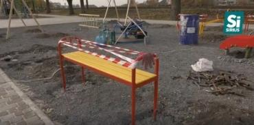 """Закарпаття. Вандали """"погуляли"""" в новому парку у Мукачев"""