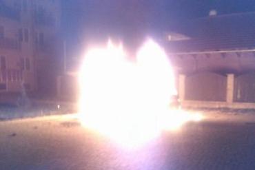 На Закарпатье: ночью неизвестные подожгли авто