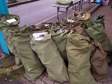 Крупную партию контрабандных сигарет обнаружили около границы с Закарпатьем в Венгрии
