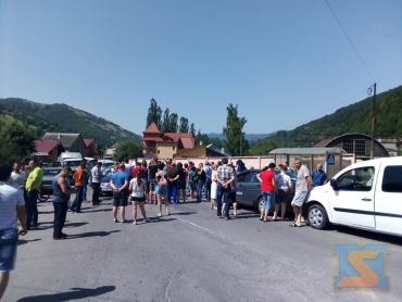В Закарпатье главная трасса заблокирована из-за протеста