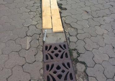 В центре Ужгорода появилась очень необычная ливневка