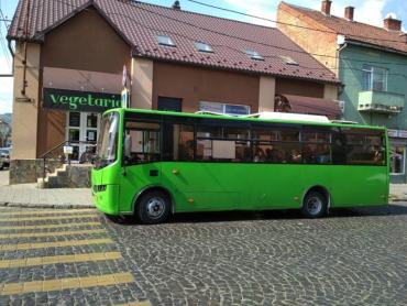 В Мукачево водитель автобуса создал интересную ситуацию на дороге