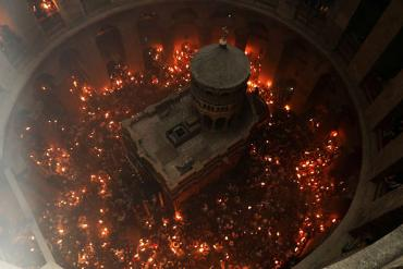 Схождение Благодатного огня в Иерусалиме