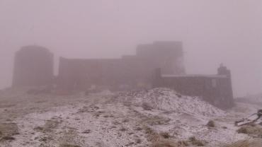 В Закарпатье горы неожиданно припорошило снегом