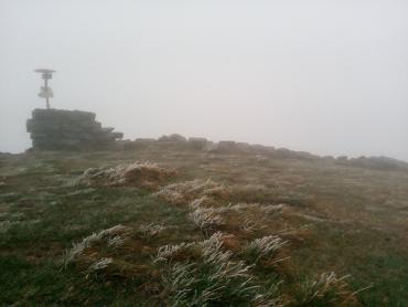 В Закарпатье гору Поп Иван припорошил снег
