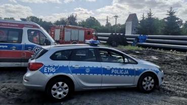 В Польше на украинца упала десятитонная газовая труба