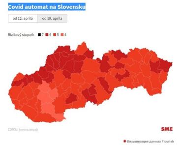 Словакия по ковид-автомату со следующей недели перейдет на бордовую фазу