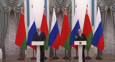 Итоги переговоров лидеров России и Беларуси.
