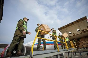 Очередную партию медицинского инвентаря доставили из Китая