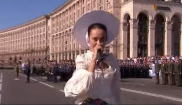 На Марше Достоинства прозвучал рэп: Алина Паш выступила на Майдане