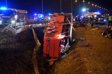 Смертельная авария в Польше: МВД показало видео с места аварии