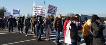Главная трасса в Ужгород заблокирована протестующими предпринимателями (ФОТО)