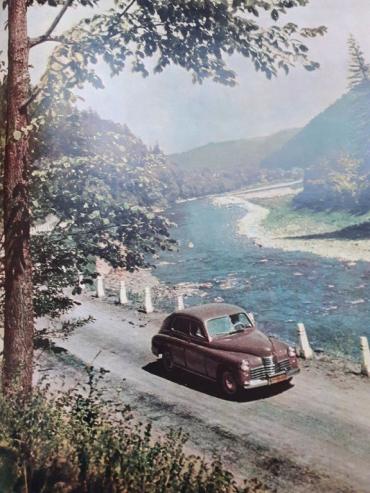 Как выглядела дорога в горы на Закарпатье в 1961 году