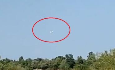 В сети появились случайно снятое видео падения самолета в Ивано-Франковской области