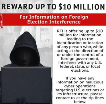 Хотите заработать 10 млн?: США предлагают награду за информацию о вмешательстве в выборы