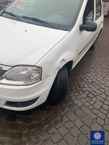 В Закарпатье патрульные отыскали женщину-водителя скрывшуюся с места ДТП