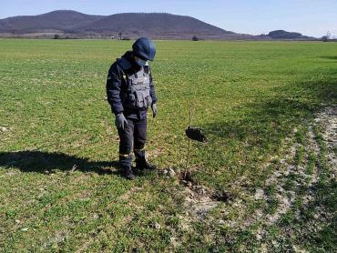 В Закарпатье во время работы человек наткнулся на взрывчатку
