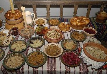 12 блюд на стол в Святвечер перед Рождеством