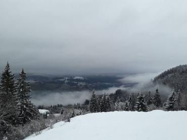 В Закарпатье жители делятся фотографиями мест, где еще бушует зима