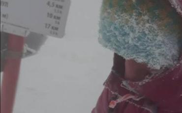 Львівська туристка зі Львова розповіла, як ледь не замерзла в Карпатах