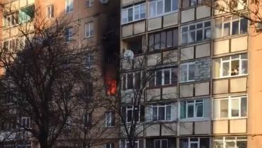 В многоэтажном доме Ужгорода произошёл пожар