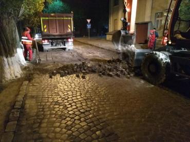 В Ужгороде продолжаются ремонты дорог от которых даже не знаешь что ожидать (