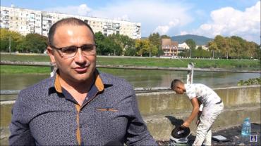 В Мукачево ромский художник с командой превратят бетонную стенку на набережной в произведение искусства