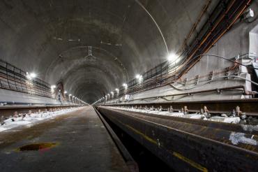 В сети появились фотографии завершения строительства Бескидского тоннеля в Карпатах