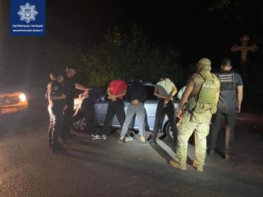 В Закарпатье провели арест водителя и всех его пассажиров