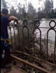 Паводок пришел в ещё один район на Закарпатье - мост едва ли держиться!