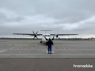 """⚡️Pfizer прибыл! Самолет с первыми 117 тысячами доз приземлился в аэропорту """"Киев""""."""