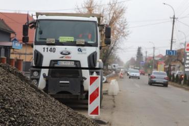 В Ужгороде во всю продолжают ремонт одной из центральных улиц