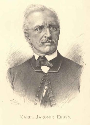 Знаменитый чешский писатель, этнограф и историк Карел Яромир Эрбен (Karel Jaromír Erben)