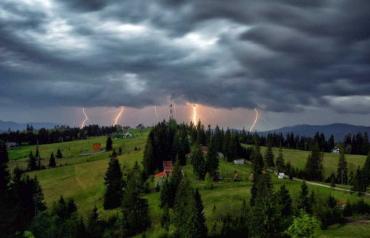 В ближайшее время Закарпатье окажется под атакой дождей с грозами
