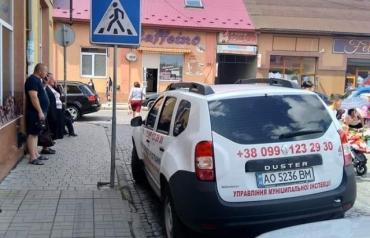 В Закарпатье авто хамом оказался тот, кто и наказывает нарушителей ПДД